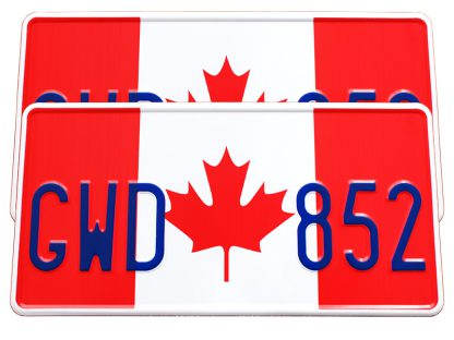 tablice-rejestracyjne-300x150-Kanada-2-2-komplet