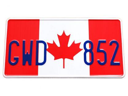 tablice-rejestracyjne-300x150-Kanada-2-2-pojedyncze